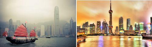 Hong Kong and Shanghai, China